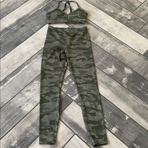 Forever 21 camo workout outfit
